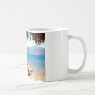 Inspirational DREAM quote with scenic beach photo Coffee Mug