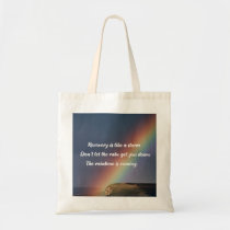 Inspirational Drug Addiction Recovery Rainbow Tote Bag