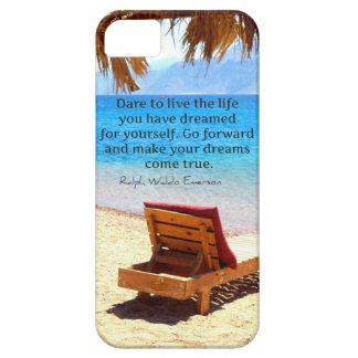 Inspirational Emerson DREAM quote iPhone SE/5/5s Case