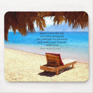 Inspirational Emerson DREAM quote Mouse Pad