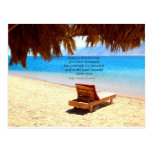 Inspirational Emerson DREAM quote Postcard