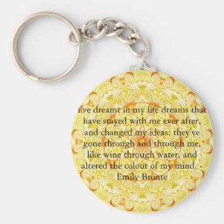 Inspirational Emily Bronte quotation Basic Round Button Keychain