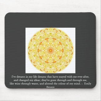 Inspirational Emily Bronte quotation Mouse Mats