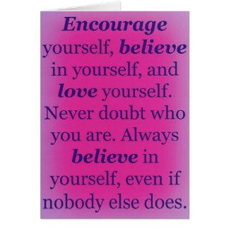 Inspirational & Encouraging Greeting Card