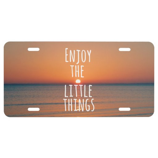 enjoy the little things plate