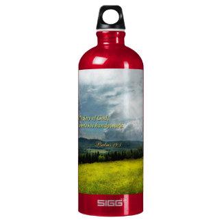 Inspirational - Eternal hope - Psalms 19-1 Aluminum Water Bottle