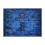Inspirational Faith Bible Verses Stretched Canvas Print