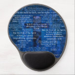 "Inspirational Faith Bible Verses Gel Mouse Pad<br><div class=""desc"">Uplifting Scripture about faith. Contemporary Christian Art with text.</div>"