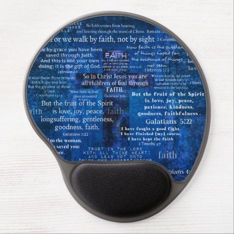 Inspirational Faith Bible Verses Gel Mouse Pad