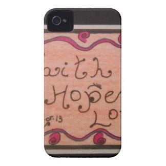 Inspirational Faith Hope Love iPhone 4 Cover