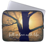 Inspirational Fall in Love with Life Quote Laptop Computer Sleeves