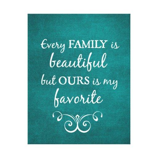 inspirational family quote canvas print zazzle