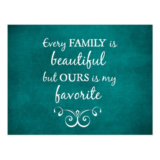 Inspirational Family Quote Postcard