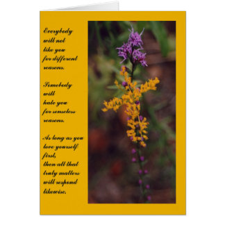 Inspirational Flowers Note Card 2