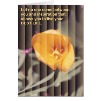Inspirational Flowers Note Card 3