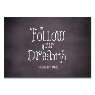 Inspirational Follow Your Dreams Quote Card