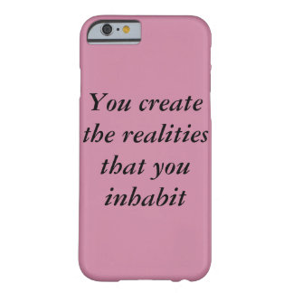 inspirational, food for thought barely there iPhone 6 case