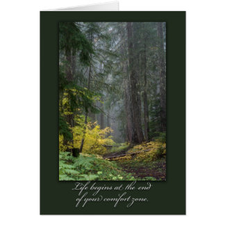 Inspirational Forest-Themed Card