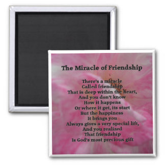 Inspirational Friendship Poem 2 Inch Square Magnet