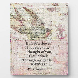 Inspirational friendship Quote with vintage art Photo Plaques