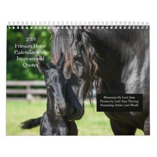 Inspirational Friesian Horse Calendar