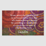 Inspirational Gandhi animal rights quote ART Stickers