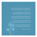 Inspirational | Gandhi Quote Positive Thinking Poster