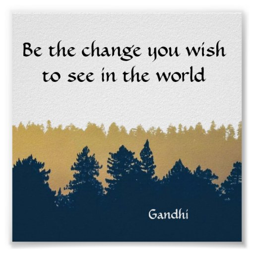 inspirational gandhi quote poster art print zazzle