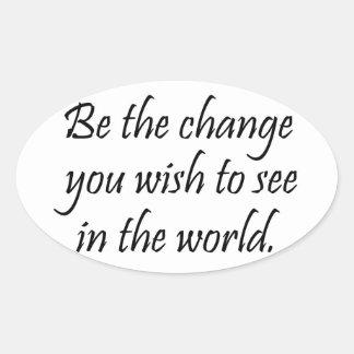 Inspirational Gandhi quote stickers bulk discount