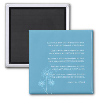 Inspirational Gandhi Quote Thoughts Habits Destiny Magnet