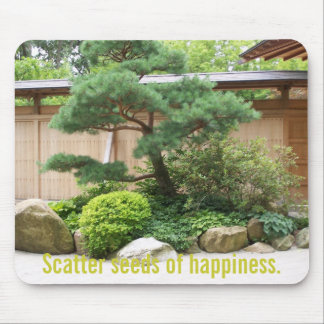 Inspirational Garden Message Mousepad