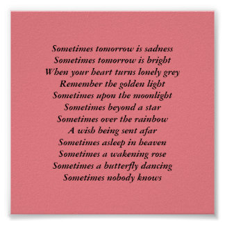 inspirational gift  poetic verse poster