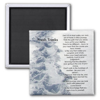 Inspirational Gifts Fresh Tracks 2 Inch Square Magnet