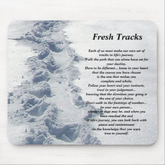 Inspirational Gifts Fresh Tracks Mouse Pad