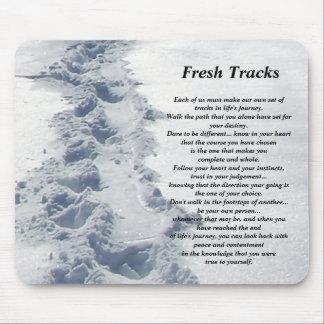 Inspirational Gifts Fresh Tracks Mouse Mats