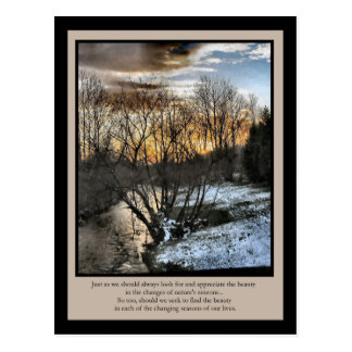 Inspirational Gifts Seasons of Our Lives Postcard