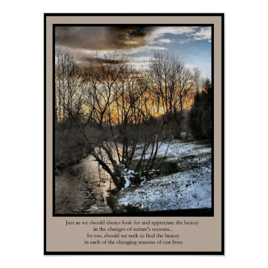 Inspirational Gifts Seasons of Our Lives Poster