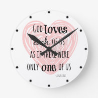 Inspirational God and Love Quote Wallclocks
