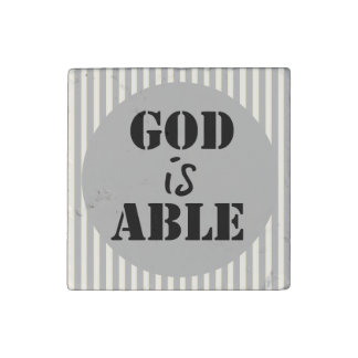Inspirational God is Able Stone Magnet