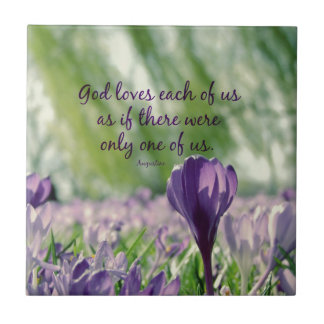 Inspirational God Loves Each of Us Quote Tile