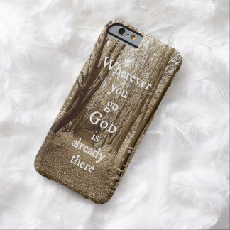 Inspirational God quote Barely There iPhone 6 Case