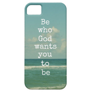 Inspirational God Quote: Be who God wants you to iPhone SE/5/5s Case