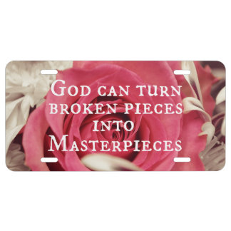 Inspirational God Quote Masterpiece License Plate