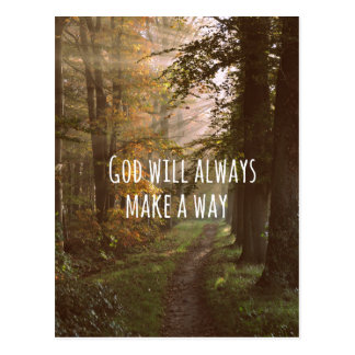 Inspirational God Quote Postcard