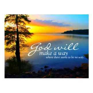 Inspirational: God Will Make A Way... Postcard
