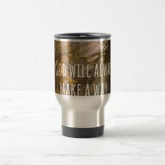 Inspirational God will make a Way Quote Travel Mug