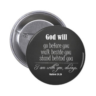 Inspirational God Will Quote with Bible Verse Button