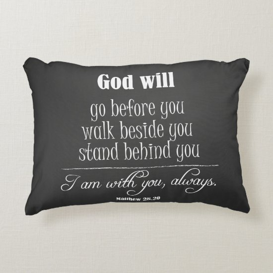 Inspirational God Will Quote with Bible Verse Decorative Pillow