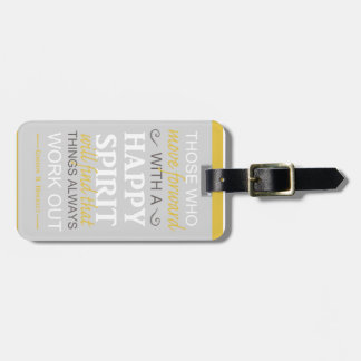inspirational gordon b hinckley lds quote luggage tag