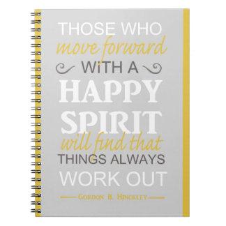 inspirational gordon b hinckley lds quote notebook